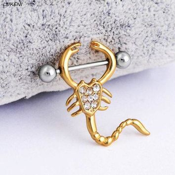 ac DCCKO2Q 1 Pcs/set Lovely Scorpion Rings Body Jewelry Women Piercing Stainless Steel Rings Piercing Jewelry Gifts