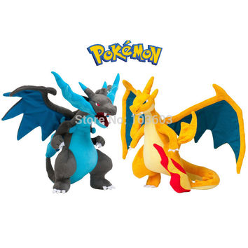 23cm Pokemon Charizard Fire Dragon Flying Dragon Mega Cartoon Video Movies PP Cotton Stuffed Animals Plush Toys Anime Kids Gift