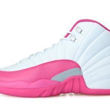Air Jordan 12 Gg White Pink