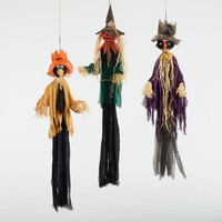 Vintage Hanging Scarecrows Set of 3