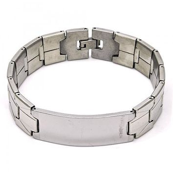 Stainless Steel 03.114.0290.08 ID Bracelet, Polished Finish, Steel Tone