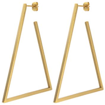 Geometric Big Triangle Earrings