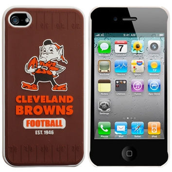 Cleveland Browns Retro Hard iPhone 4/4S Case - Brown