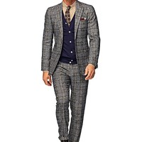 Suit Grey Check Havana P3932i | Suitsupply Online Store