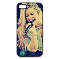 Mystic Zone Pop Singer Demi Lovato Case for iPhone 5 Hard Back Cover Skin Fits Case WSQ1106