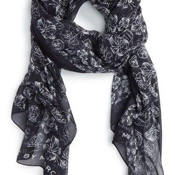 MARC BY MARC JACOBS x Disney® 'Alice in Wonderland - Laughing Flowers' Scarf | Nordstrom