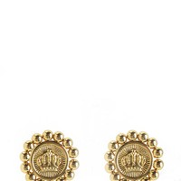 Gold Status Coin Stud Earring by Juicy Couture, O/S