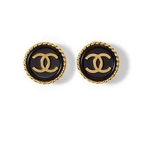 Chanel CC Button Earring
