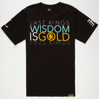 Last Kings Golden King Mens T-Shirt Black  In Sizes