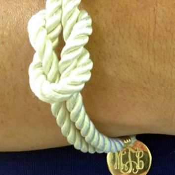 Monogrammed Nautical Bracelet | Nautical Gifts | Marley Lilly