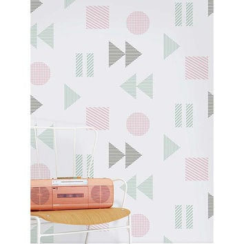 Mini Moderns Play/Record Wallpaper at John Lewis