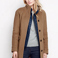 Women's Luxe Wool Car Coat from Lands' End