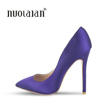 Brand fashion women pumps sexy high heel pumps shoes for women sexy pointed toe high heels party wedding shoes woman