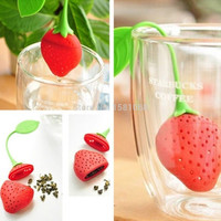 Silicone Strawberry Design Loose Tea Leaf Strainer Herbal Spice Infuser Filter Tools 1OFM