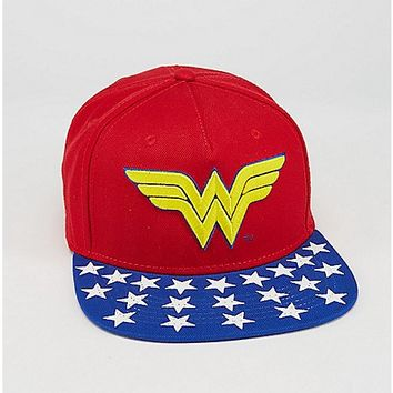 Embroidered Wonder Woman DC Snapback Hat - Spencer's