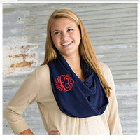 SALE Monogrammed Scarf in the color of your choice. Great gifts for Christmas.