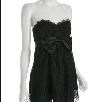 "Rebecca Taylor ""Ingenue"" Strapless Top   Black"