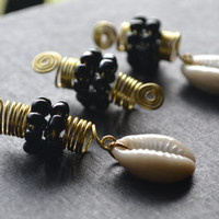 Gold Dreadlock Jewelry Set