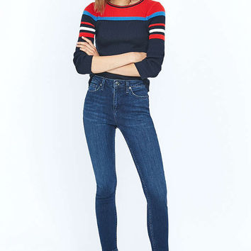 BDG Breeze Mid-Rise Dark Blue Skinny Jeans - Urban Outfitters