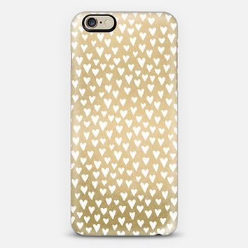 Little Hearts On Gold iPhone 6 case by Elisabeth Fredriksson | Casetify