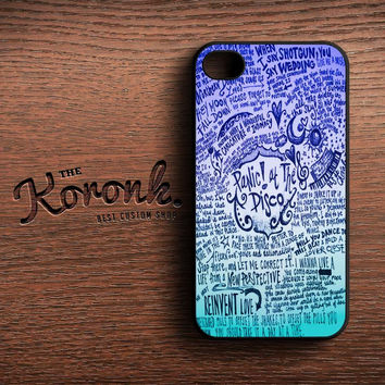 Design Panic At The Disco Lyric Quotes iPhone case,iPod case,samsung case,HTC & Sony Xperia Case