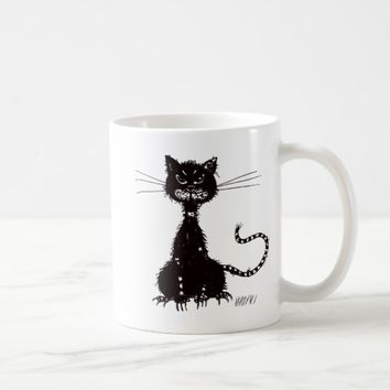 Ragged Evil Black Cat Coffee Mug