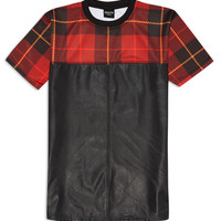 Tartan Leather Tee