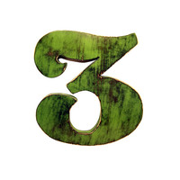 Rustic Wooden Number 3 (Pictured In Jungle) Hanging Wall Sign Nursery Decor Anniversary Gift Rustic Cottage Chic Kids Room Decor Photo Prop