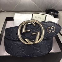 High Quality GUCCI  Belt Genuine Leather belts women's and men's Business Waistband Belt Luxury Casual fashion Belt