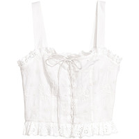 H&M Top with broderie anglaise