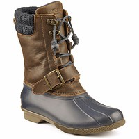 Women's Saltwater Misty Duck Boot in Navy/Brown by Sperry - FINAL SALE
