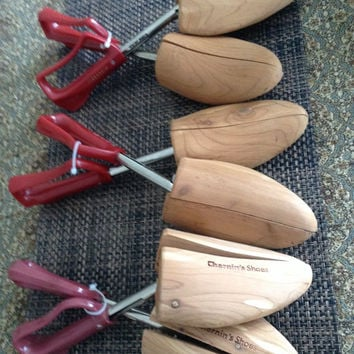 Rochester Shoe Tree/Shoe Stretcher. Lot of three one marked Florsheim, one marked Chernin Shoes, marked shoe tree size 5.