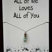 FREE SHIPPING All of Me Loves All of You Gift Valentine's Day Woman Fashion Stone Pendant Girl Handmade Watch