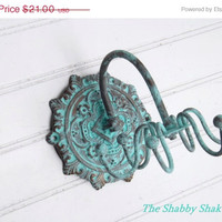 SPRING SALE Patina // Jewelry Organizer // Necklace Holder // Hook /Wall Jewelry Hanger // Necklace Organizer
