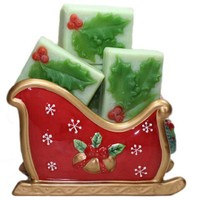 Christmas In July Holly Berry Handmade Soap Red Green