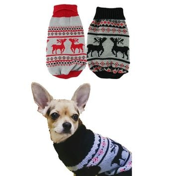 Christmas Sweater for Dog, Puppy, Warm Winter Clothes