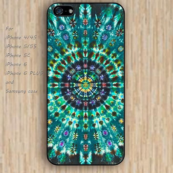 iPhone 6 case mandala green colorful iphone case,ipod case,samsung galaxy case available plastic rubber case waterproof B087