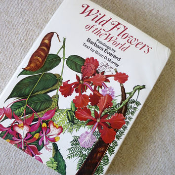 Wild Flowers of the World Paintings Book by Barbara Everard Brian Morley Text 1979 Color Plates Extensive List Details Coffee Table Book