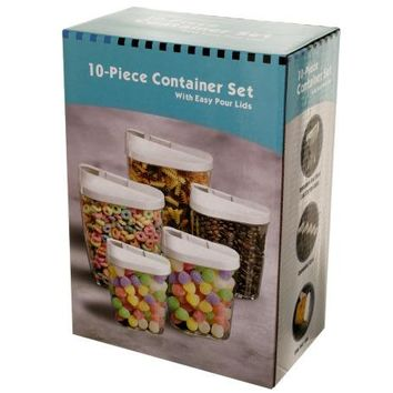 Nesting Food Container Set with Easy Pour Lids ( Case of 4 )