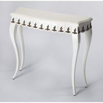 Linor White & Gold Console Table