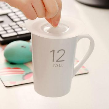 VONC1Y 2016 Hot Sale Silicone Novelty Water Drinking Cup Mug's Lid Anti-dust Cup Cover Novelty Gift Retail