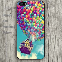 UP hot air balloon colors iphone 6 6 plus iPhone 5 5S 5C case Samsung S3, S4,S5 case, Ipod touch Silicone Rubber Case, Phone cover