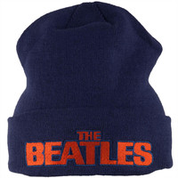 The Beatles - Block Letters Adult Knit Beanie