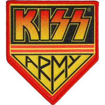 KISS Men's Army Embroidered Patch Red