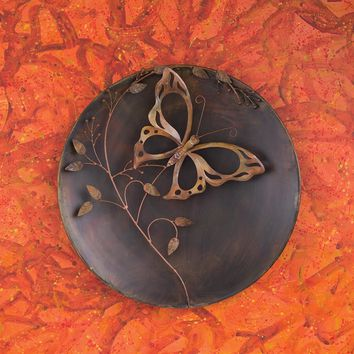 "23"" Butterfly on Branch Raised Wall Disc - New item! Pre-order for August!"