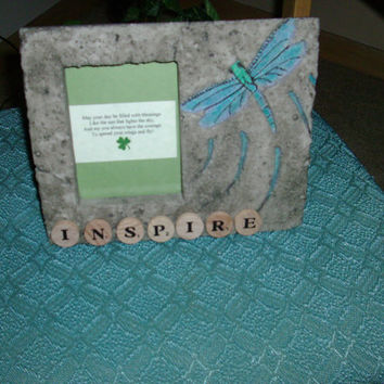 Upcycled Picture Frame Inspire Dragonfly