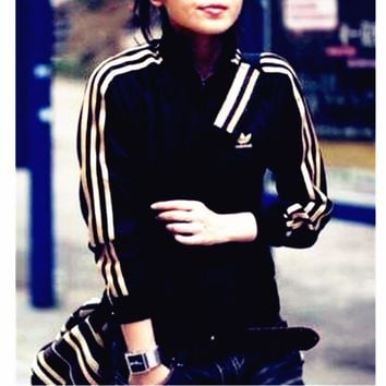Adidas Unisex Zipper Fashion Coat Jacket Sweatshirt