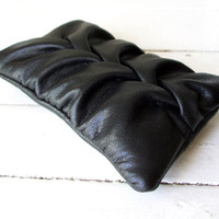 black fabric iphone case vegan leather iPhone sleeve padded iPhone case iPhone pouch