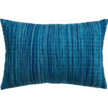 """Hombre Blue 18""""x12"""" Pillow With Down-alternative Insert"""
