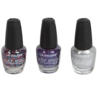 Bulk Coordinating Sets: L.A. Colors Color Craze Nail Polish, Sparkle Collection at DollarTree.com